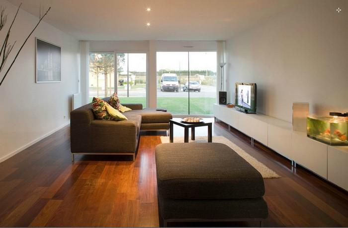 casa contenedor interior ,Interior casa contenedor moderna