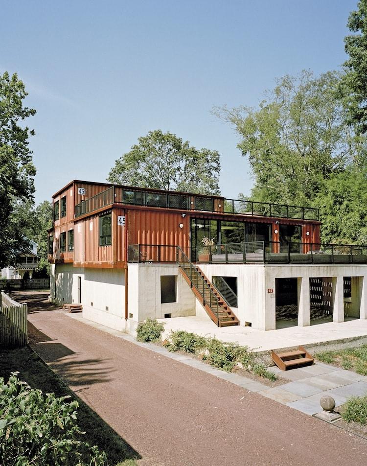 Casa contenedor moderna